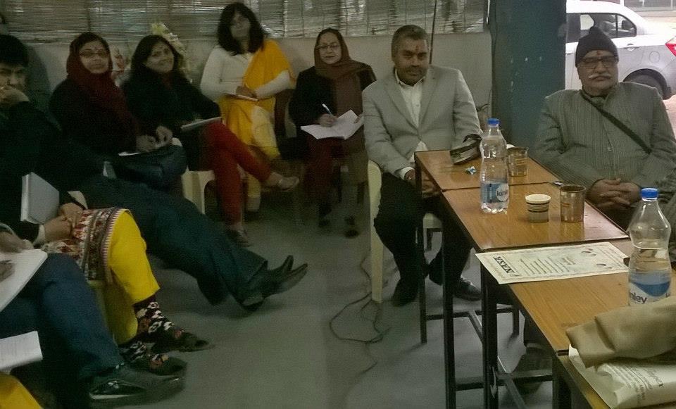 M.N. Kedar and Achary Kalki Krishnan in an Astrology class at ICAS,  Noida Chapter.