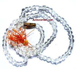Crystal Quartz (Sphatik) Mala / Rosary