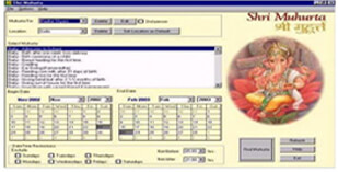 Muhurta Software