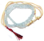 Aquamarine Quartz Mala / Rosary